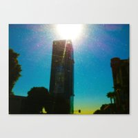 Building's Glare Canvas Print