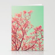 Stationery Cards featuring Pink Tree Top by AC Photography