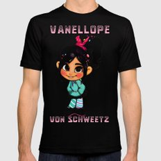 Vanellope II Black SMALL Mens Fitted Tee