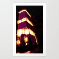 Violently Purple Art Print