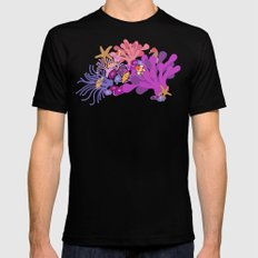 Block Party on the Reef - Clownfish Anemone Marine Sea Life Coral Black Mens Fitted Tee SMALL