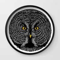 Round Owl Wall Clock