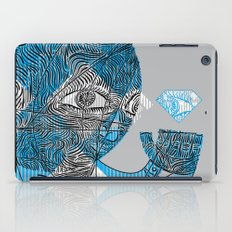 mesmerized by the light blue diamond iPad Case