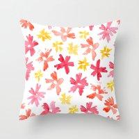 Sunny Florals Throw Pillow