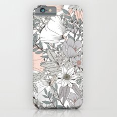 Seamless pattern design with hand drawn flowers and floral elements Slim Case iPhone 6s