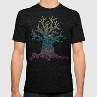 Trees of Neon Mens Fitted Tee Tri-Black SMALL