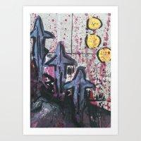 Let's Go Diving  Art Print