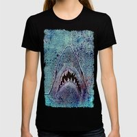 Shark Womens Fitted Tee Black SMALL