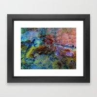 Night fishing Framed Art Print