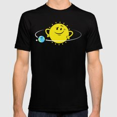 The Whole World Revolves Around Me Black SMALL Mens Fitted Tee