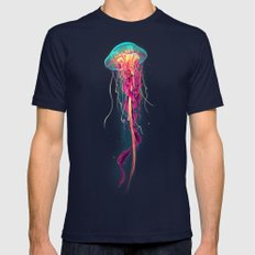 Jellyfish Mens Fitted Tee Navy LARGE