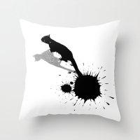 Inkcat2 Throw Pillow
