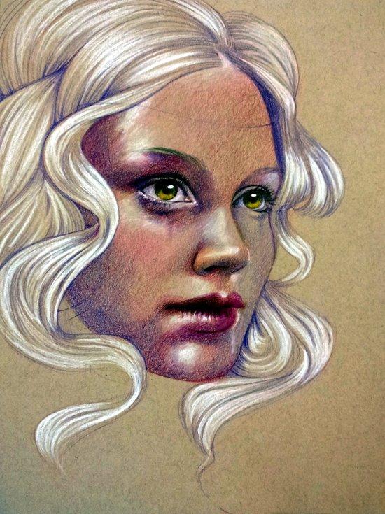 Grape (self portrait) Art Print