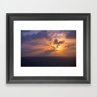 Sunrise At Sea Framed Art Print