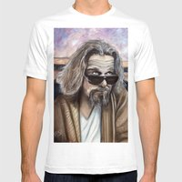 The Dude Mens Fitted Tee White SMALL