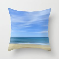 Blue sea...., blue sky. Sea dreams Throw Pillow