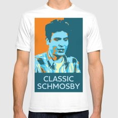 Classic Schmosby White Mens Fitted Tee SMALL