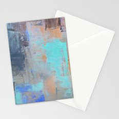 Painterly Blues Stationery Cards