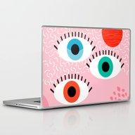 Noob - Eyes Memphis Retr… Laptop & iPad Skin