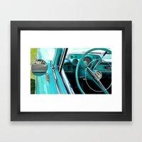 Aqua Interior Framed Art Print