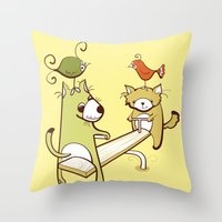 Saturdays And Sundays Throw Pillow