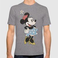 Minnie Mouse Mens Fitted Tee Tri-Grey SMALL