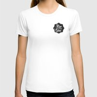 Rise And Grind Womens Fitted Tee White SMALL