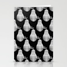 Black And White Pears Stationery Cards