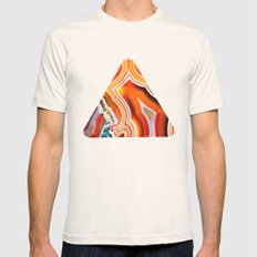 The Vivid Imagination of Nature, Layers of Agate Mens Fitted Tee Natural SMALL