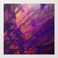 Purple And Orange Stripe… Canvas Print