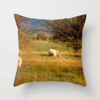Golden Moment Throw Pillow