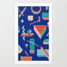 Block Dream Night Art Print