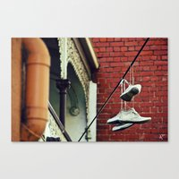 Sneakers & Pipes Canvas Print
