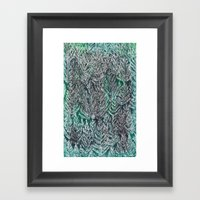 Snow Pines (Green) Framed Art Print
