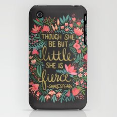 Little & Fierce On Charc… iPhone (3g, 3gs) Slim Case