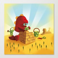the Great Pyramid Mystery Canvas Print
