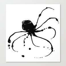 Octopus Ink Canvas Print