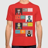 Django Unchained Character Poster Mens Fitted Tee Red SMALL
