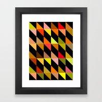 Autumn Triangles (2013) Framed Art Print