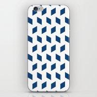 rhombus bomb in monaco blue iPhone & iPod Skin