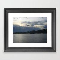 Dusk In Samoa DPG150414a Framed Art Print