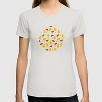 Summer Fruits Womens Fitted Tee Silver SMALL