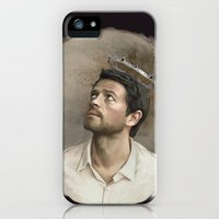 iPhone 5s & iPhone 5 Cases featuring Castiel. White crown. by Armellin