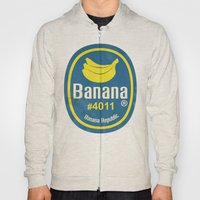 Banana Sticker On White Hoody