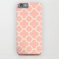 MOROCCAN {CORAL & OFF WHITE } iPhone 6 Slim Case