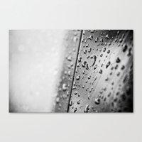 black and white drops Canvas Print