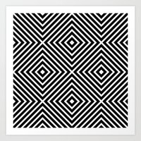 Chevron Diamond ///www.p… Art Print