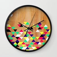 Geometric Polygons Arbutus Wall Clock