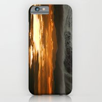 iPhone & iPod Case featuring Winter Shorebreak at Sunset by kreatox