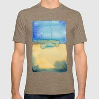 Color Field No. 2 Mens Fitted Tee Tri-Coffee SMALL